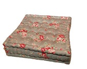 Vintage English roses floor cushions