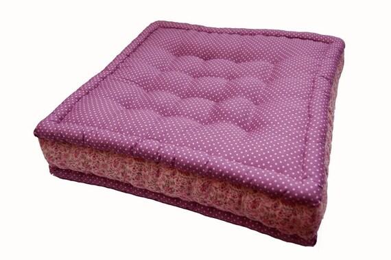 Purple polka dots floor cushion