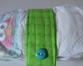 Diaper Strap in Mod Green Dots FREE Shipping