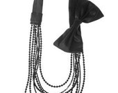 ON SALE - Black Bow Necklace