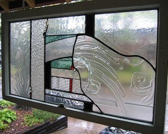 Contemporary Art Glass Panel
