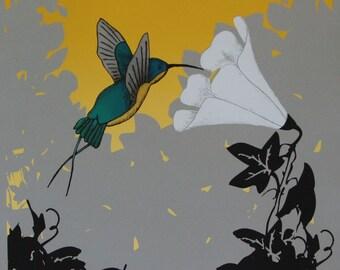 Hummingbird Screen Print