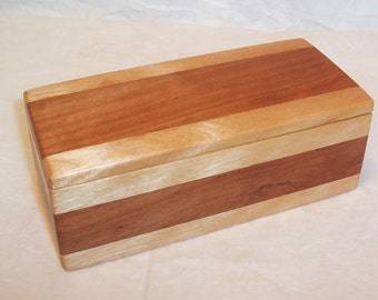 Handcrafted Reclaimed and Vintage Woods Box Cherry and Maple