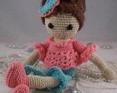 Jessica Nichole, Crochet Pattern,  for amigurumi, shelf sitter doll,miniature,