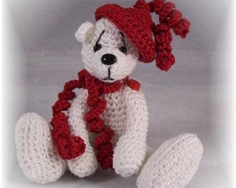Amigurumi,Miniature Crochet Thread Artist Bear Pattern by Claudia Woodward