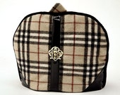 Tea Cozy / Cosy - Preppy Pendelton Wool Plaid w/ Metal Fleur de lis embellishment / Limited Edition