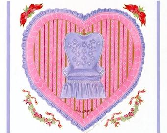 My Sweetheart Chair / Giclee Print / Watercolor