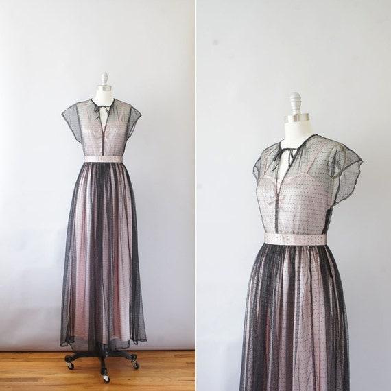 1930s dress / vintage 30s formal dress / Ballet Pink