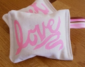 Lavender Sachets - Hand Stamped Love, So In It (Pink)