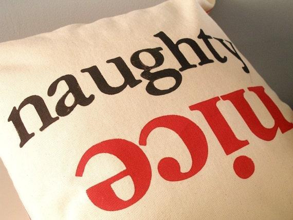 Naughty or nice Christmas pillow