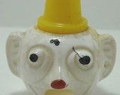 Odd Vintage Celluloid Clown Head