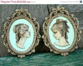 On Sale Vintage Retro Romantic Paris Chic Lady Profile Cameo Wall Decorations