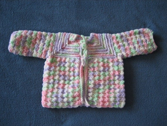 Crochet Baby Sweater 6-9 Month