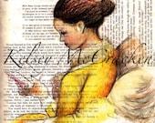 Reading In Yellow (La Jeune Captive) Print.