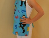 SALE - Super cute Child Size WIGGLES Apron with FREE SHIPPING