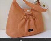 SALE -orange ultrasuede shoulder bag Martha