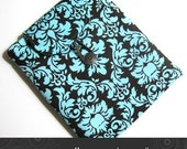 iPad Kindle DX case padded with pocket in chocolate damask Kris