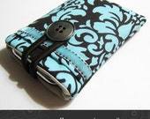 Jo iPhone ipod cell phone case in chocolate damask