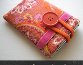 iPhone sleeve / iPod / Touch / cell phone pouch / mobile phone case with pocket orange Jo