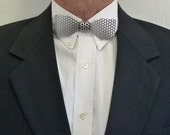 """Metal, Small Neck Bow Tie, Aluminum, Perforated 1/8"""" (3 mm) Holes"""