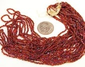 Carnival Glass Beads - Long hank - Cinnamon color