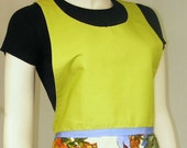 1960s Apron - Chartreuse - Free Shipping in US