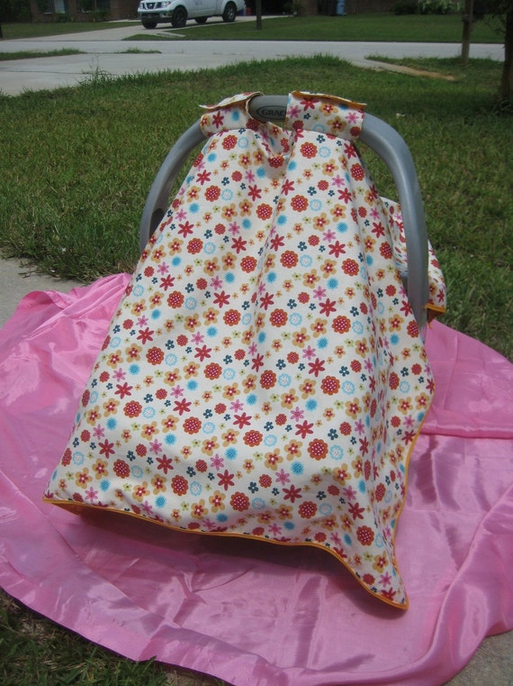 Flower Fun Car Seat Cover With FREE Matching Flower Clip