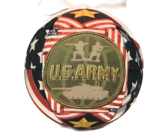 United States Army Patriotic Handmade Christmas Ornament Quilted Kimekomi Fabric Ornament Holiday Home Decor by CraftCrazy4U on Etsy