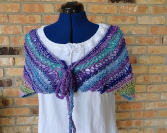 Knit Scarf Pattern, Easy to Knit Cape Design, Knitted Cape Pattern, Easy Knitting Pattern for Shawl, Knit Patterns for Noro Yarn
