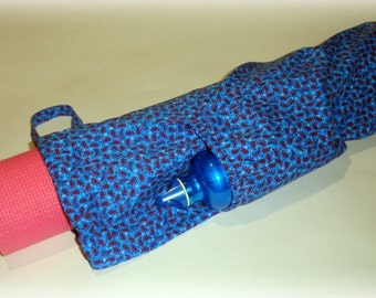 Yoga Mat Bag Pattern, Sewing Pattern, Easy to Sew Pattern for Yoga Mat Bag, Sewing Tutorial for Exercise Bag, DIY Gift for Yoga Lovers
