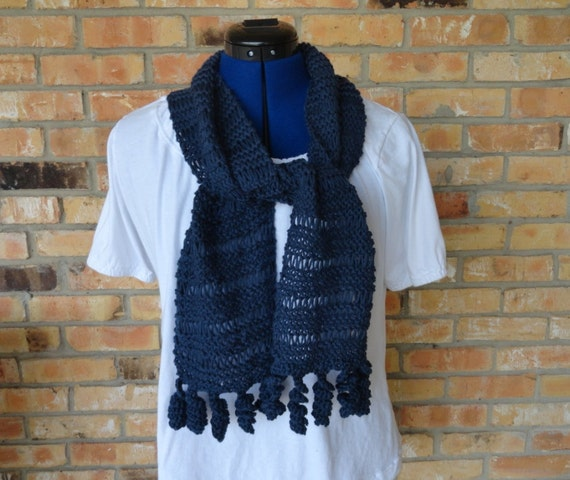 Knitting Pattern Cotton Knit Scarf Pattern by KimberleesKorner