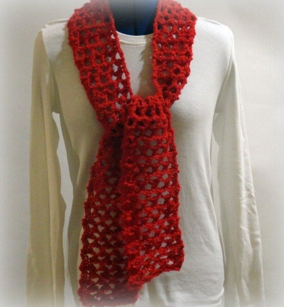 Eyelet Lace Scarf Knitting Pattern : Knit Scarf Pattern, Knitting Pattern for Lace Scarf, Reversible Eyelet Lace D...