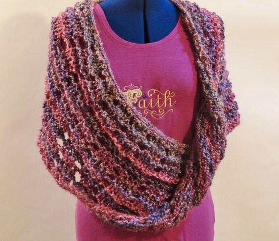 Knitting Pattern, Mobius Knit Wrap Pattern, Patterns for Homespun Yarn, Cowl ...