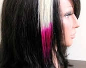 Flamingo Pink Gradient Human Hair Extensions - 8 inch