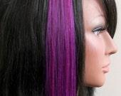 Vivid Violet  Human Hair Extension - 12 Inch