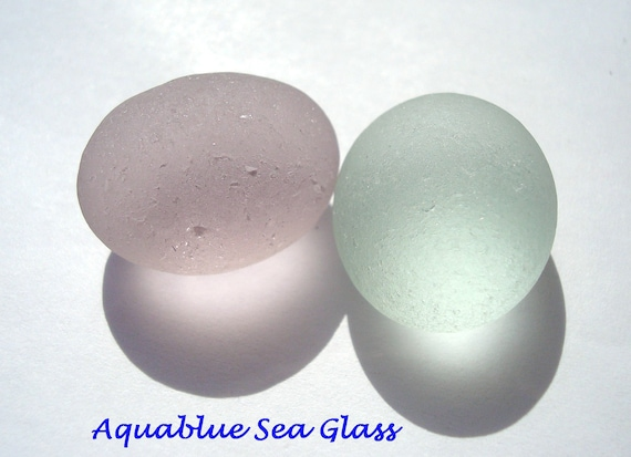 2 English  Sea Glass Boulder  Lavender And Sea Foam  Seaglass Gem  FREE Shipping (138)