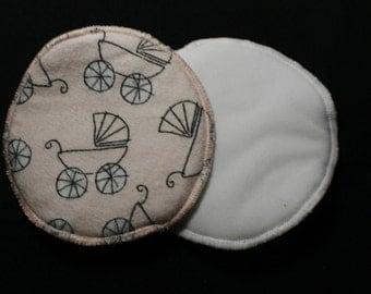 Washable Nursing Pads - Pink buggies