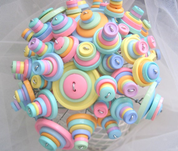 Smarties Candy Button Bouquet  Party Baby Gift Decoration