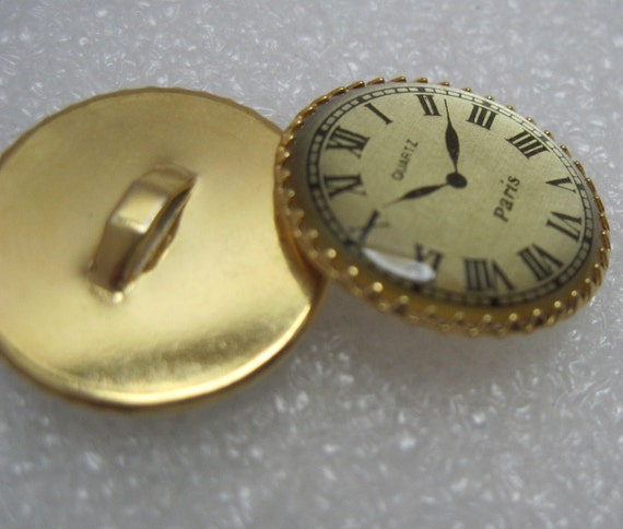 Clock Buttons for Collage, Scrapbooking, Steampunk, Sewing