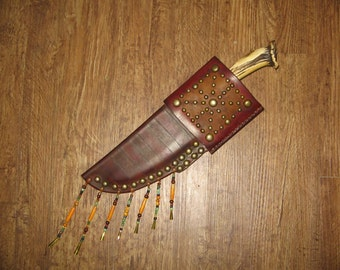 MADE TO ORDER Mountain Man knife sheath - 10/12 week delivery