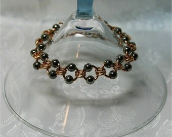 Bracelet, Black and Bronze Bracelet