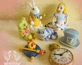 Edible Vintage Alice in Wonderland Cake Toppers