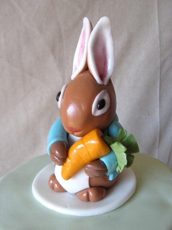 Items similar to Fondant peter rabbit cake topper on Etsy