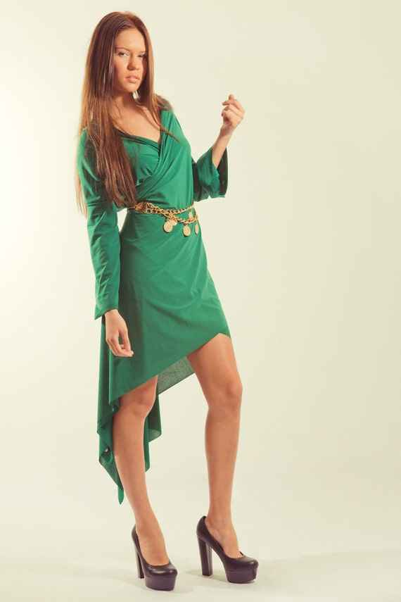 Maternity Versatile dress / Maternity Wrap Cardigan Dress in Green