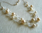 RESERVED FOR KIM - Custom made double strand necklace