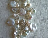 Medley of Pearls Necklace - Keshi pearls with beautiful orient
