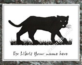 Ex Libris Panther 15 Personalized Booklabels Bookplates