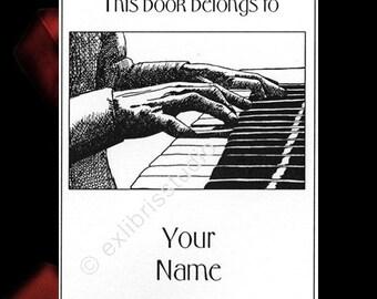 Ex Libris Piano Concert White 15 Personalized Bookplates