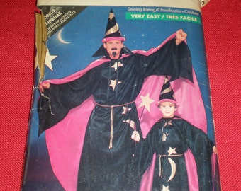 Buttrick 5873 Children and Adult Unisex Wizard Halloween Costume. Cape, Caftan, Hat, and many more