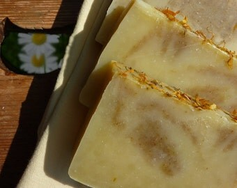 Starry's Angels - chamomile calendula aloe handmade soap for sensitive souls plus beautiful postcard